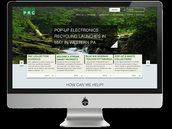 PRC Website Screenshot
