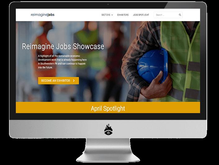 Screenshot of ReImagine Jobs Website
