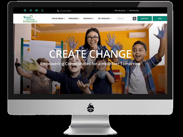 Women for a Healthy Environment website Screenshot